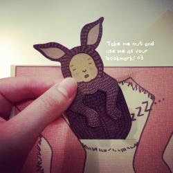 "Mother's Day/Father's Day Grey Kangaroo Joey Card / Bookmark ""I'm thankful to be your Joey"""
